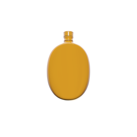 Oval Flask - Yellow