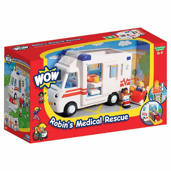 WOW Toys Robin's Medical Rescue | Bear Bottom Toys & Gifts | Durham