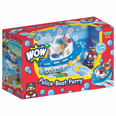 WOW Toys Police Boat Perry | Bear Bottom Toys & Gifts | Durham