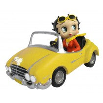 Betty Boop In Yellow Sports Car ** 30cm