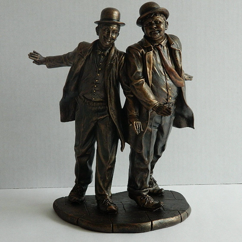 Collectible Bronze Laurel & Hardy Figurine | Bear Bottom