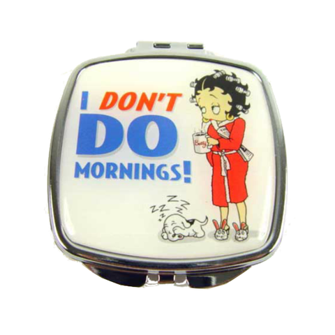 Betty Boop 'I don't do mornings!' Compact Mirror | Bear Bottom