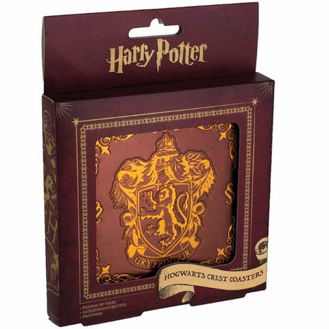 Harry Potter Hogwarts Crest Coasters | Novelty | Bear Bottom Durham