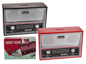 Retro radio money box