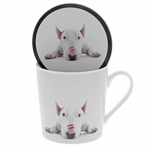 Jimmy The Bull Lipstick Kisses Dog Mug & Coaster Set