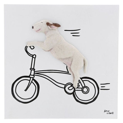 Jimmy the Bull Thats How He Rolls Wall Art English Bull Terrier Dog