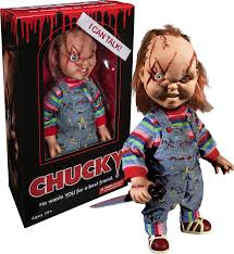 scared chucky 1/4 talking figure