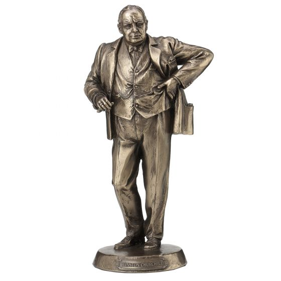 Winston Churchill 22.5cm Bronze Prime Minister Winston Churchill Ornament