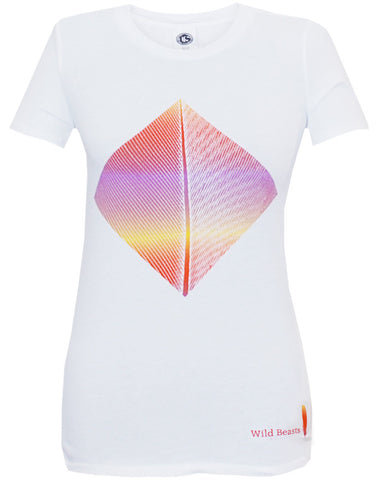 'Smother Colour' Ladies White T-Shirt