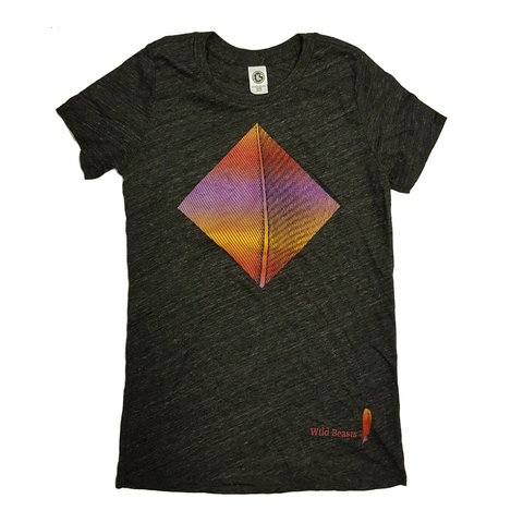 'Smother colour' Ladies Dark Grey T-Shirt