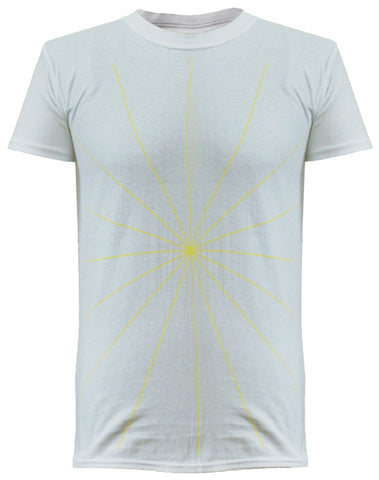 'Album Lines' Mens White T-Shirt
