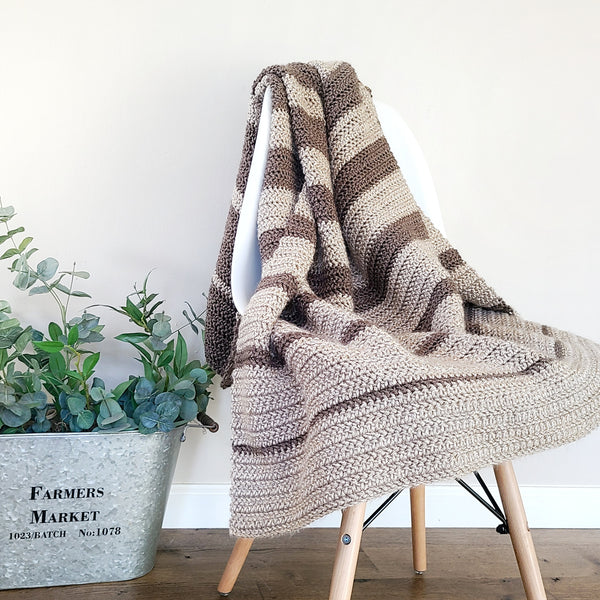 Falling in Blanket PDF Crochet Pattern in Eight Sizes - Digital Download
