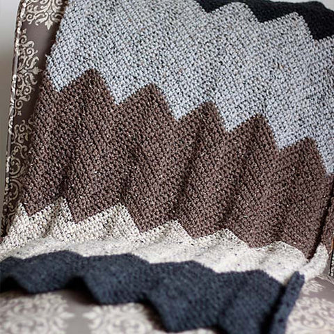 Neutral Chevron Blanket PDF Crochet Pattern - Digital Download