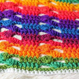 Rainbow Cluster Baby Blanket PDF Crochet Pattern - Digital Download