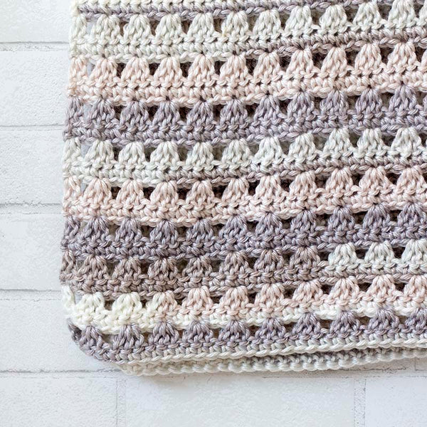 Alissa Blanket PDF Crochet Pattern in Eight Sizes - Digital Download