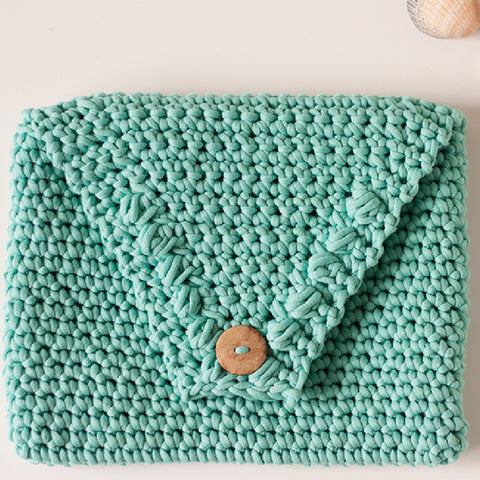 Beach Glass Clutch PDF Crochet Pattern - Digital Download