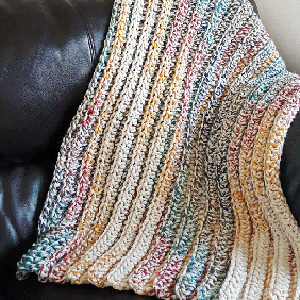 Chunky Crochet Blanket PDF Crochet Pattern - Digital Download