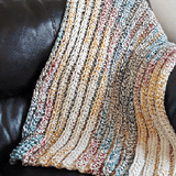 Chunky Crochet Blanket PDF Crochet Pattern in 5 Sizes - Digital Download