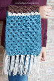 Simple Granny Scarf PDF Crochet Pattern - Digital Download
