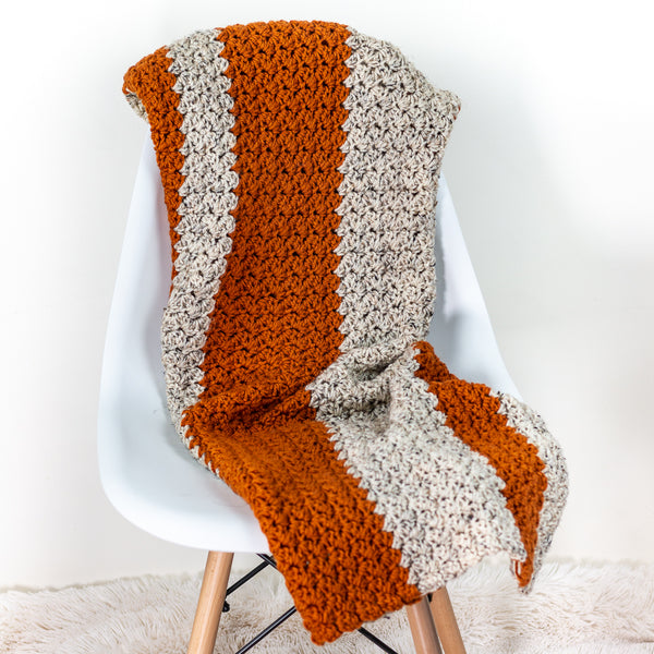 Pumpkin Fall Blanket PDF Crochet Pattern - Digital Download