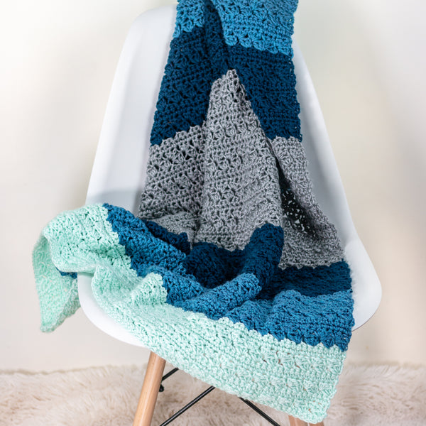 Simple Stitch Baby Blanket PDF Crochet Pattern - Digital Download