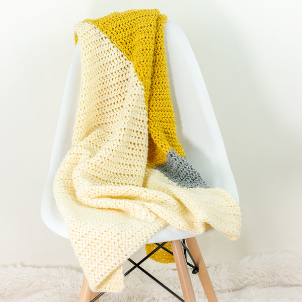 Modern Triangle Baby Blanket PDF Crochet Pattern - Digital Download