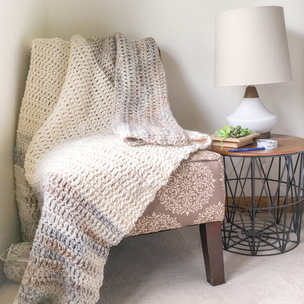 Warm Up Throw Blanket PDF Crochet Pattern- Eight Sizes - Digital Download