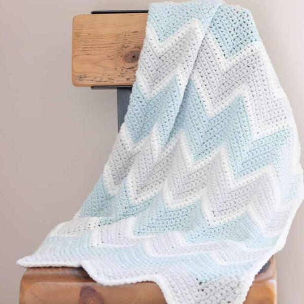 Baby Chevron Blanket PDF Crochet Pattern - Digital Download