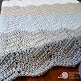 Ombre Ripple Blanket PDF Crochet Pattern - Digital Download