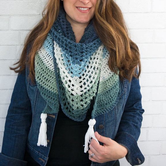 Crochet Triangle Wrap Scarf PDF Crochet Pattern - Digital Download