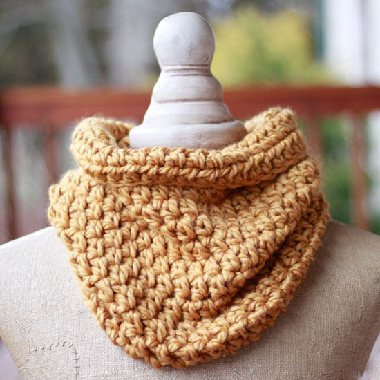 One Hour Cowl PDF Crochet Pattern - Digital Download
