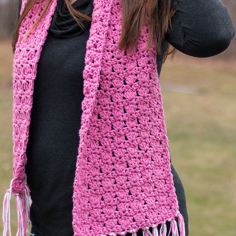 Pretty in Pink Scarf PDF Crochet Pattern - Digital Download