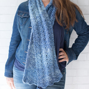 Luna Chevron Scarf PDF Crochet Pattern - Digital Download