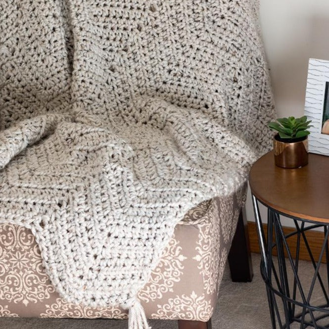 Chunky Chevron Throw Blanket PDF Crochet Pattern - Digital Download