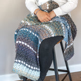 Easy Crochet Lap Blanket PDF Crochet Pattern - Digital Download