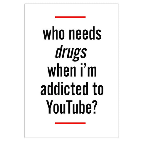 'Addicted To Youtube' Poster