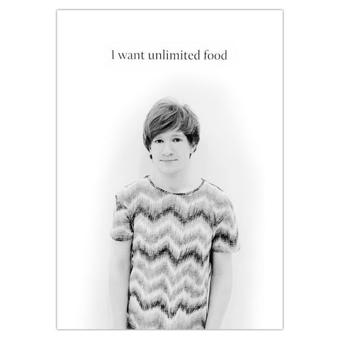 'Unlimited Food' Poster