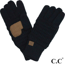 C.C Solid Ribbed Smart Touch Gloves