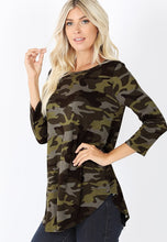 Army Green Camo 3/4 Top