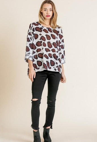 Off White Leopard Top