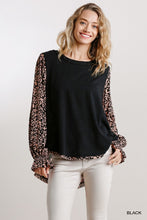 Black+Floral/Leopard Top