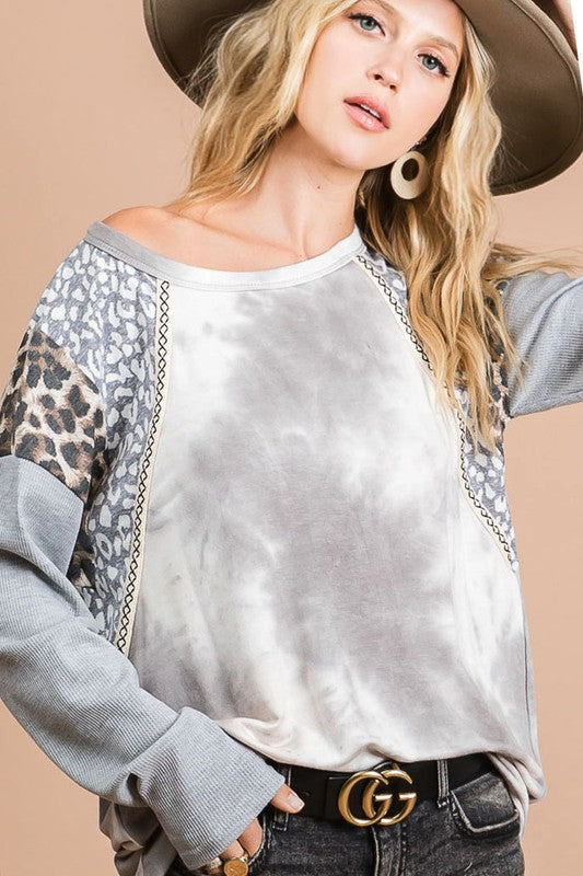 Grey Tiedye Top