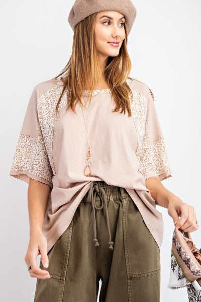 Light Mauve Leopard Top