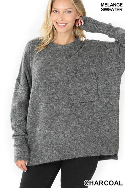 Charcoal Pocket Sweater