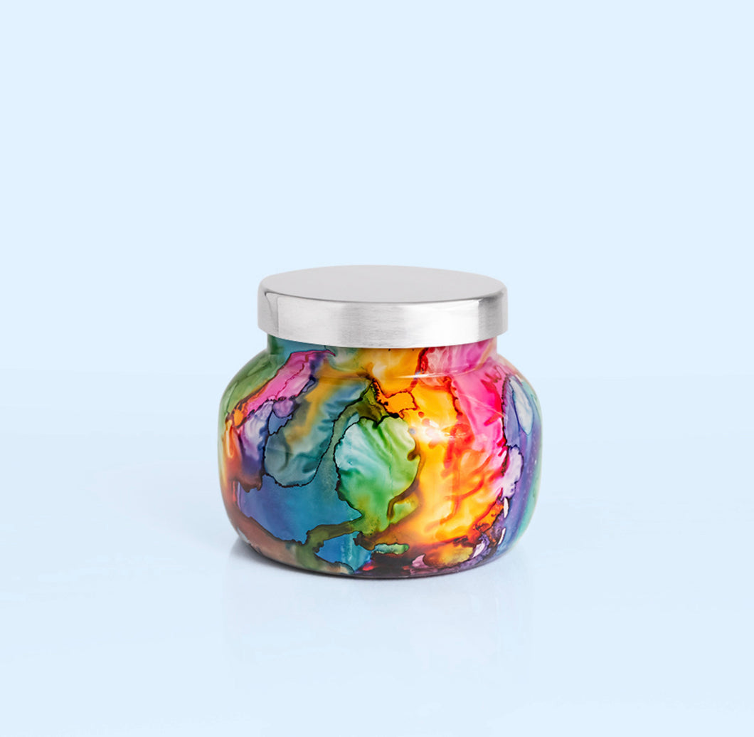 Volcano 8oz Candle (Rainbow Container)
