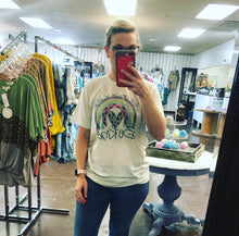 Vintage Style Be Kind Rainbow Tee
