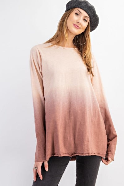 Cinnamon Ombre Top