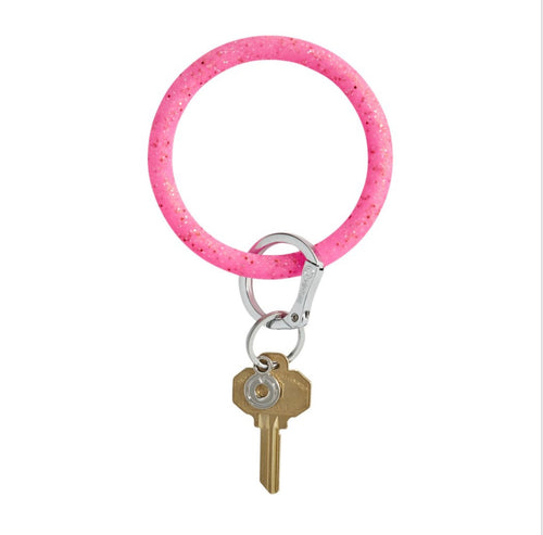 Tinkled Pink Confetti Silicone Keyring