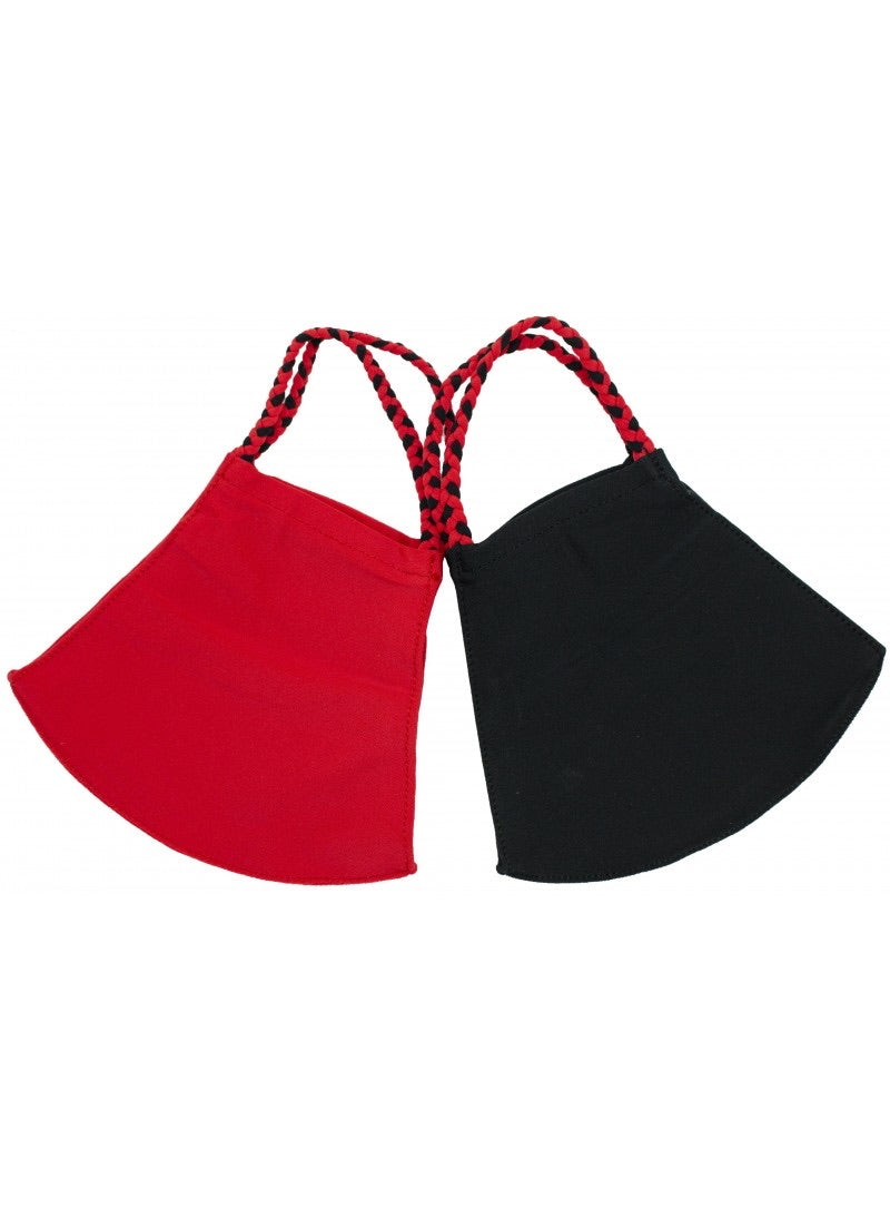 2 Pack - Red/Black + Black
