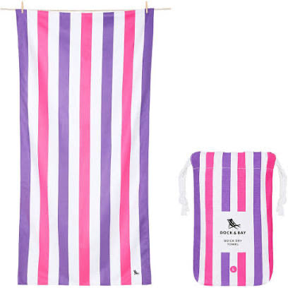 Dock and Bay XL Towel - Pink+Purple
